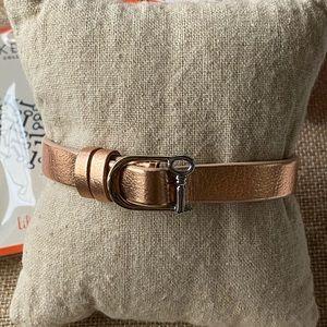 NIB Single Leather Band Rose Gold/Saddle Keep